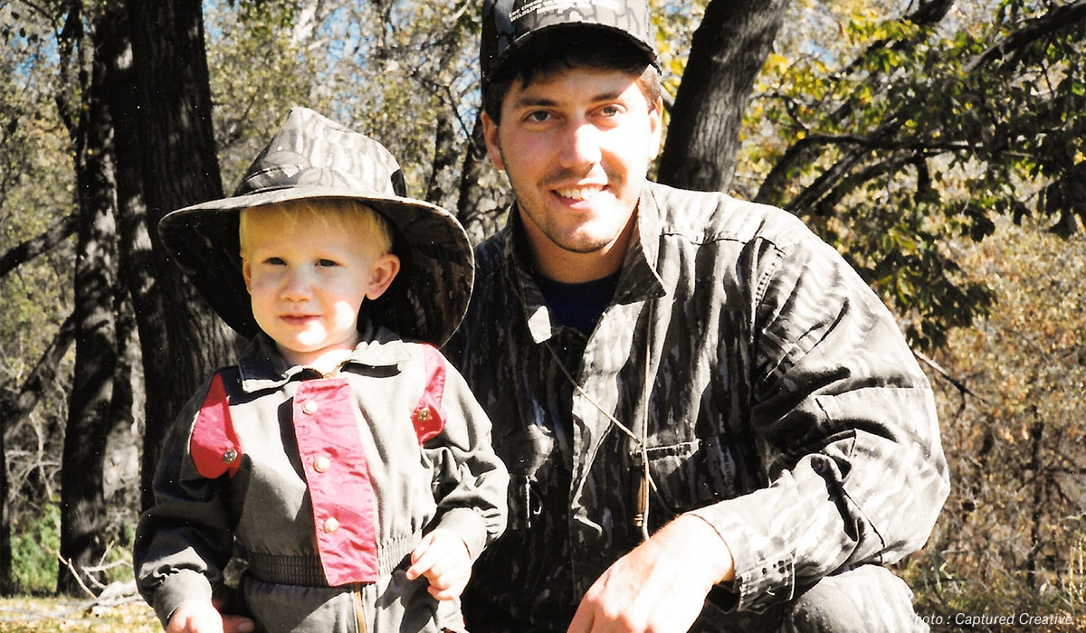 Captured Creative's Taylor Kollman and his father on their Minnesota hunting property.