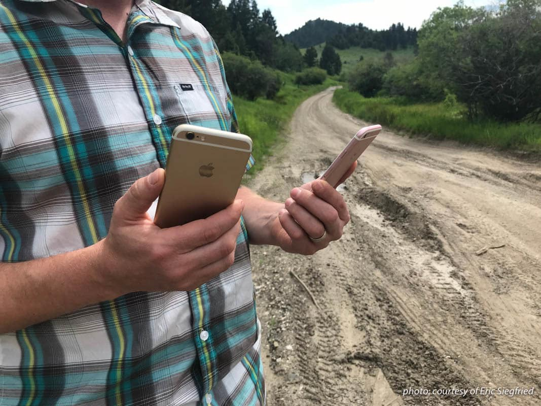onX Founder Eric Siegfried performs an A/B test with GPS function cell phone battery usage.