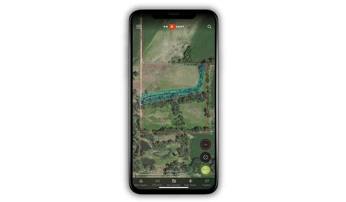 Use the onX Hunt App to find overlooked areas of public land when hunting whitetail deer.