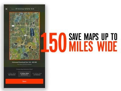 onX Hunt's hunting maps can be accessed even when your iPhone doesn't have a cell signal.
