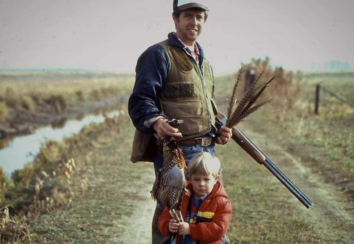 onX pro-staffer Brian B-Mac McElrea bird hunting with his dad at age 9.
