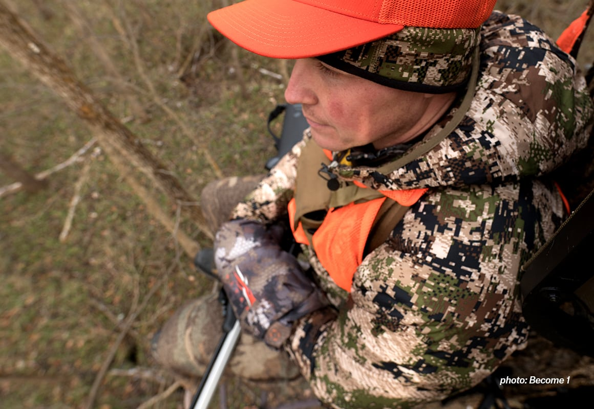 onX Hunt Founder Eric Siegfried hunting from a tree stand.