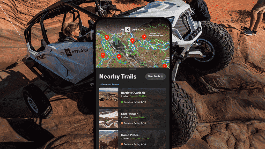 Map of Moab off-road trails