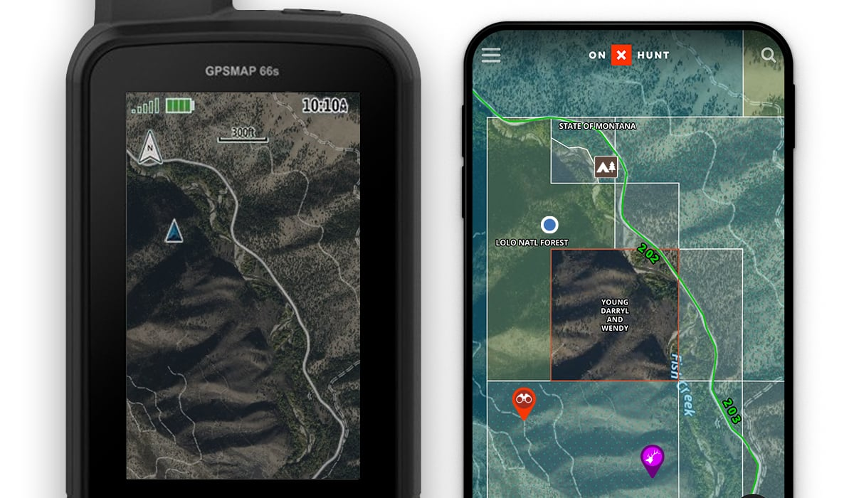 onX Hunt Chip with GPS with onX Hunt App