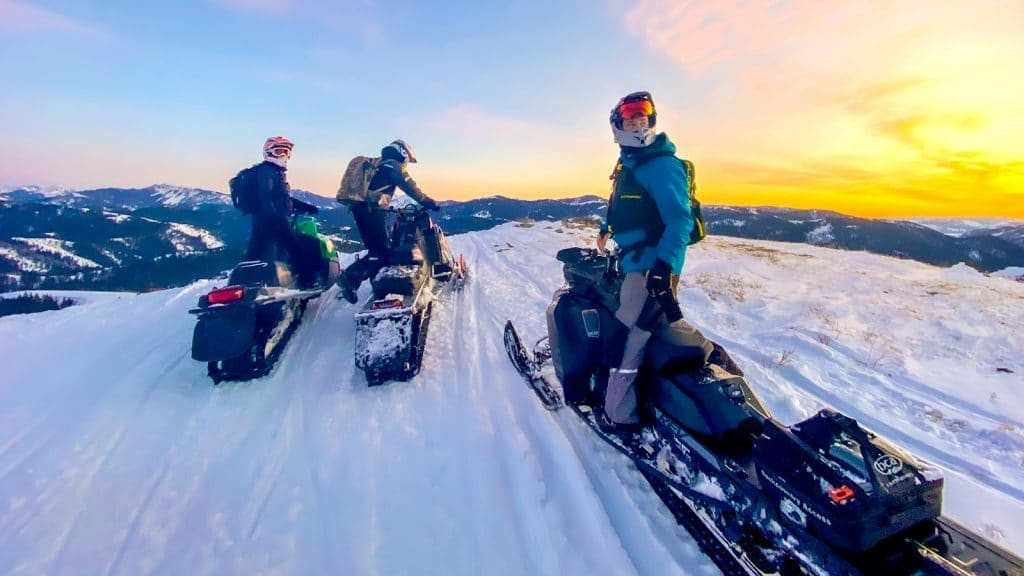 snowmobiling with onx offroad
