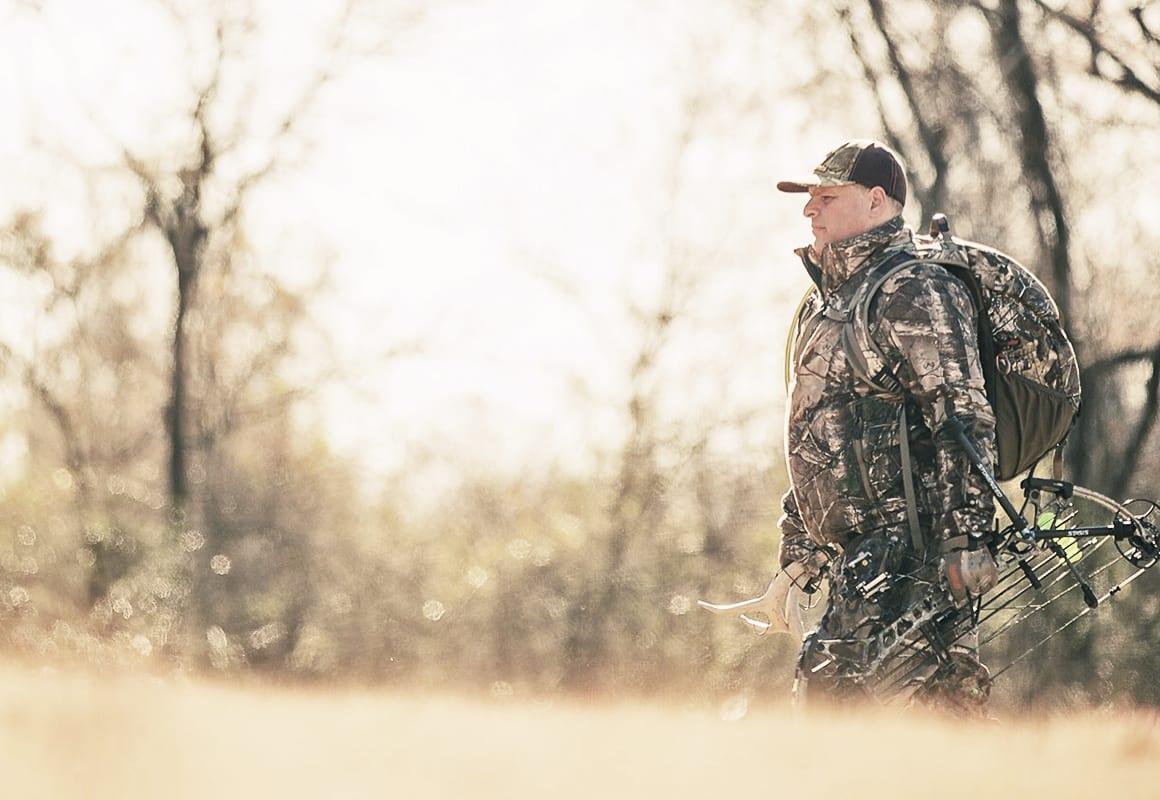 Former pro rodeo cowboy Tim Endsley hunting Arkansas public land for whitetail deer.