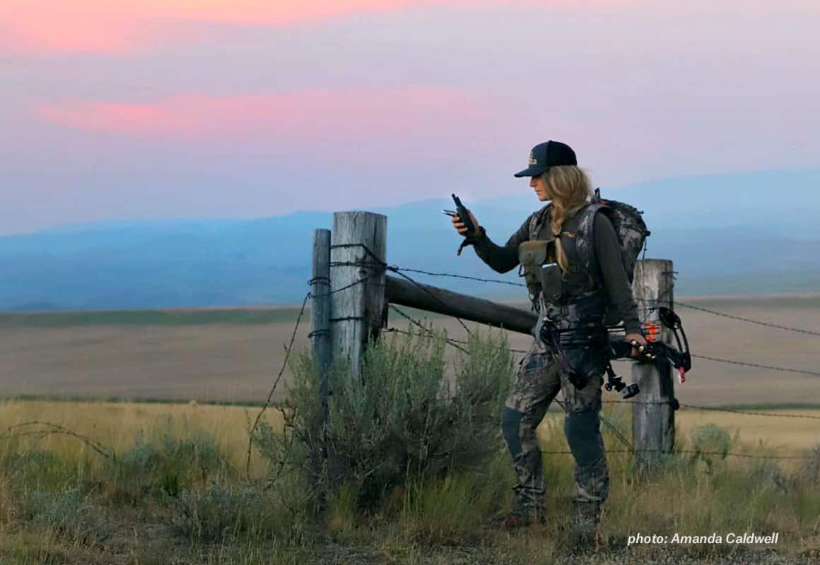 Fenceline and hunter