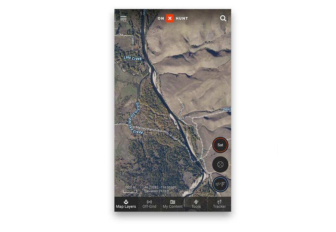 onX Aerial Basemap - satellite imagery