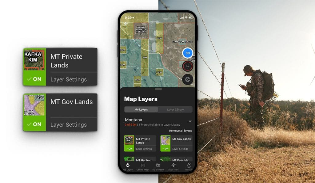 onX Layers for Finding Land to Hunt
