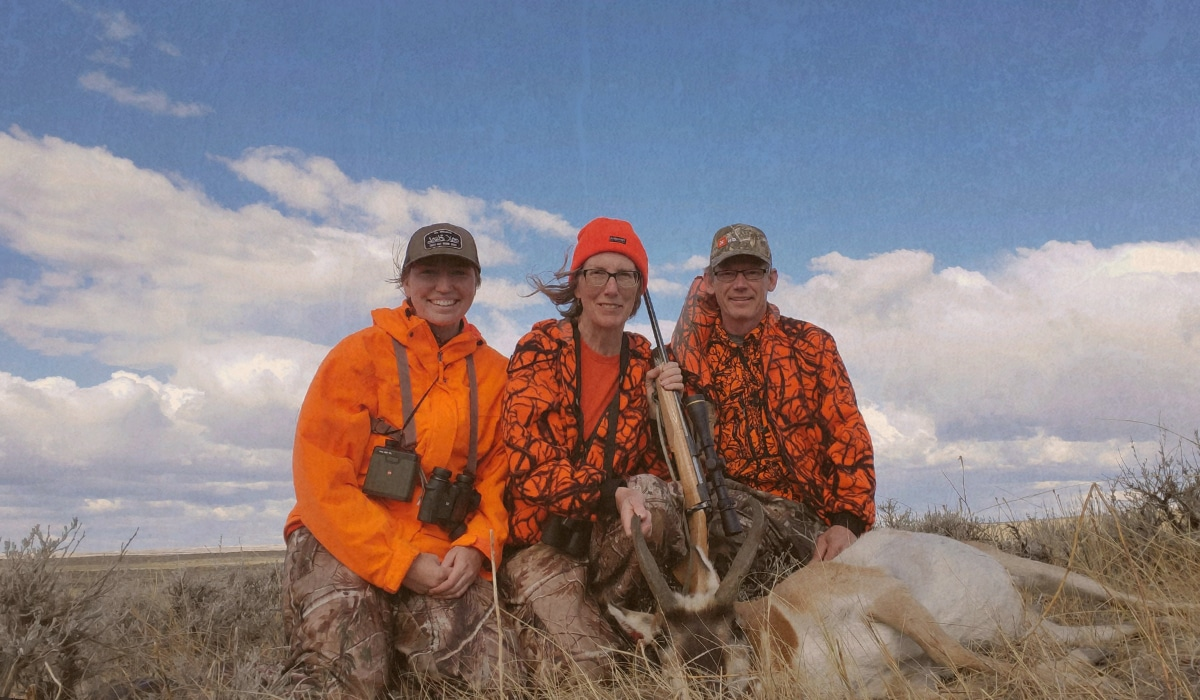 A family hunting antelope together in Montana.