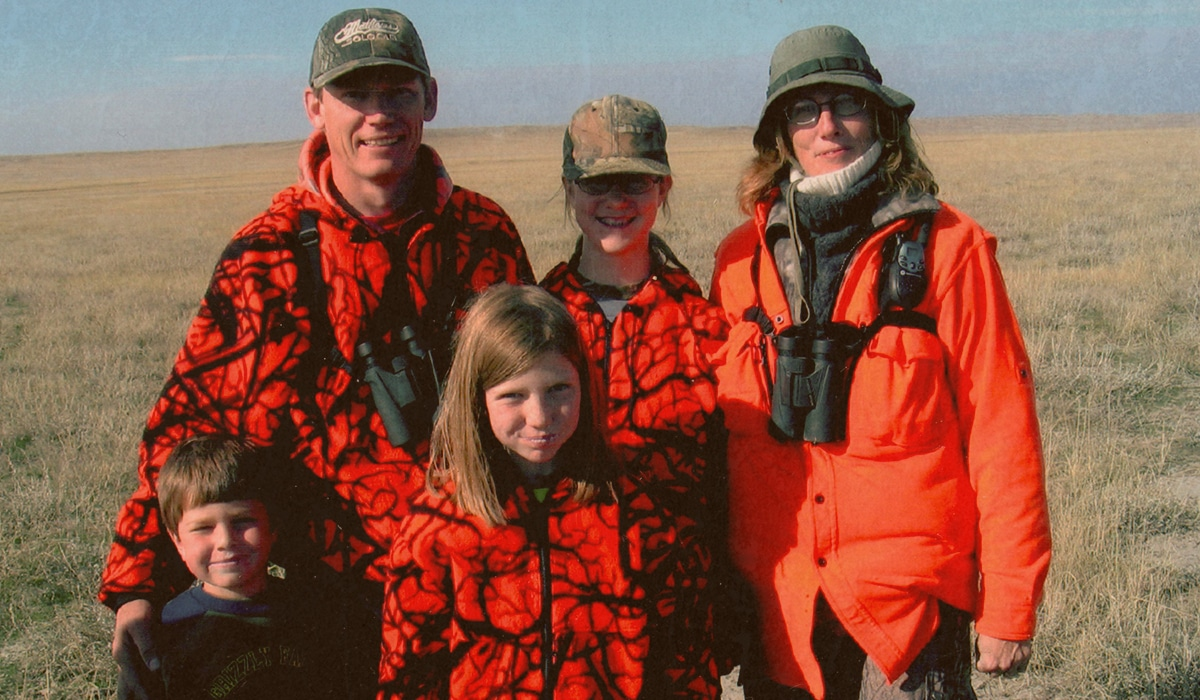 Montana family antelope hunting together.