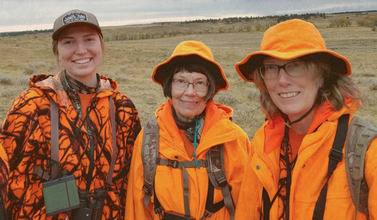 Three generations of lady hunters in the Sior family of Montana.