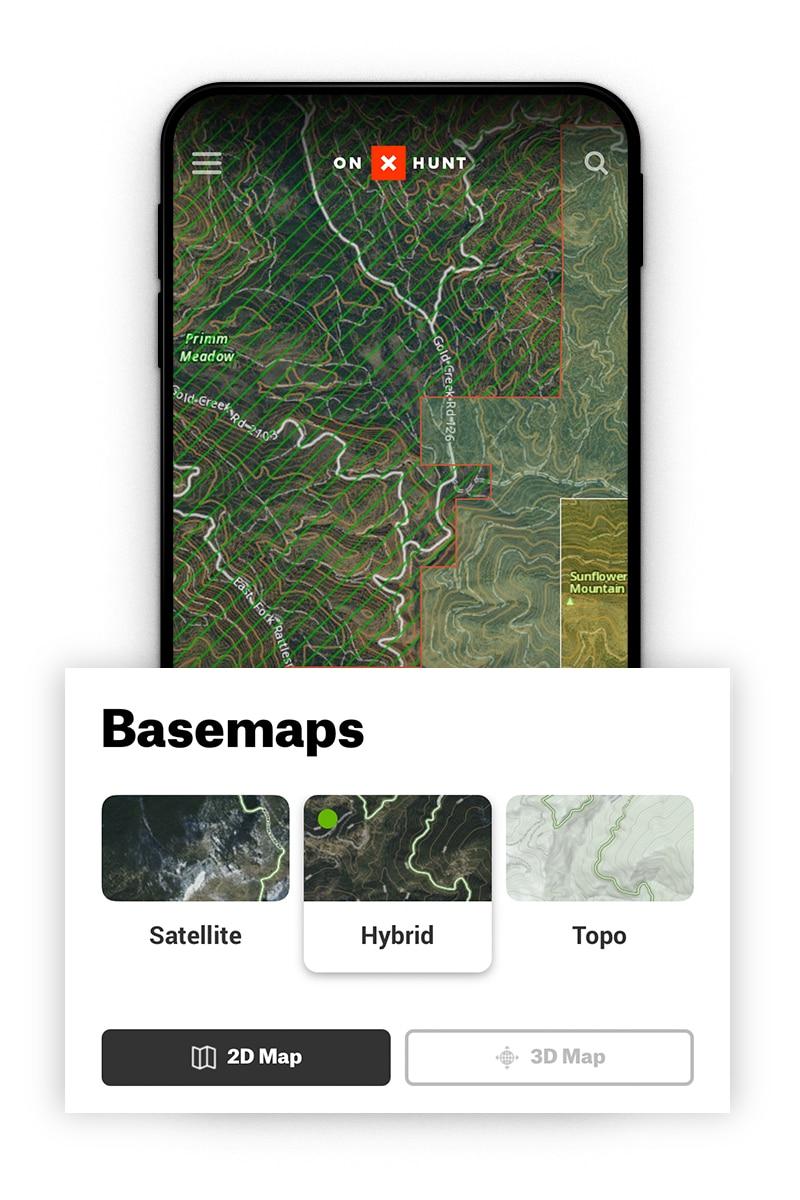 hybrid hunting basemap
