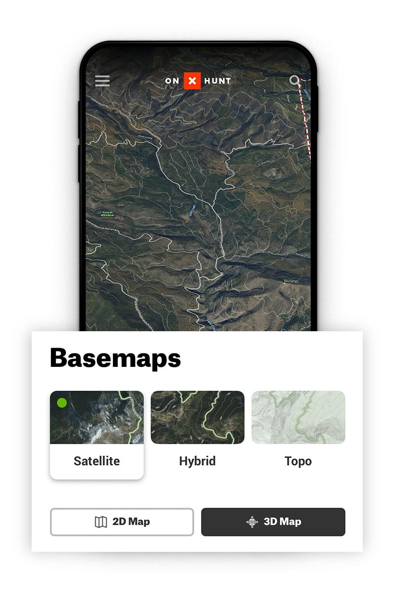 Satellite hunting basemaps