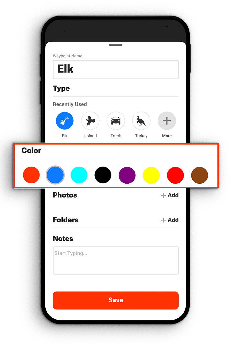 select waypoint color