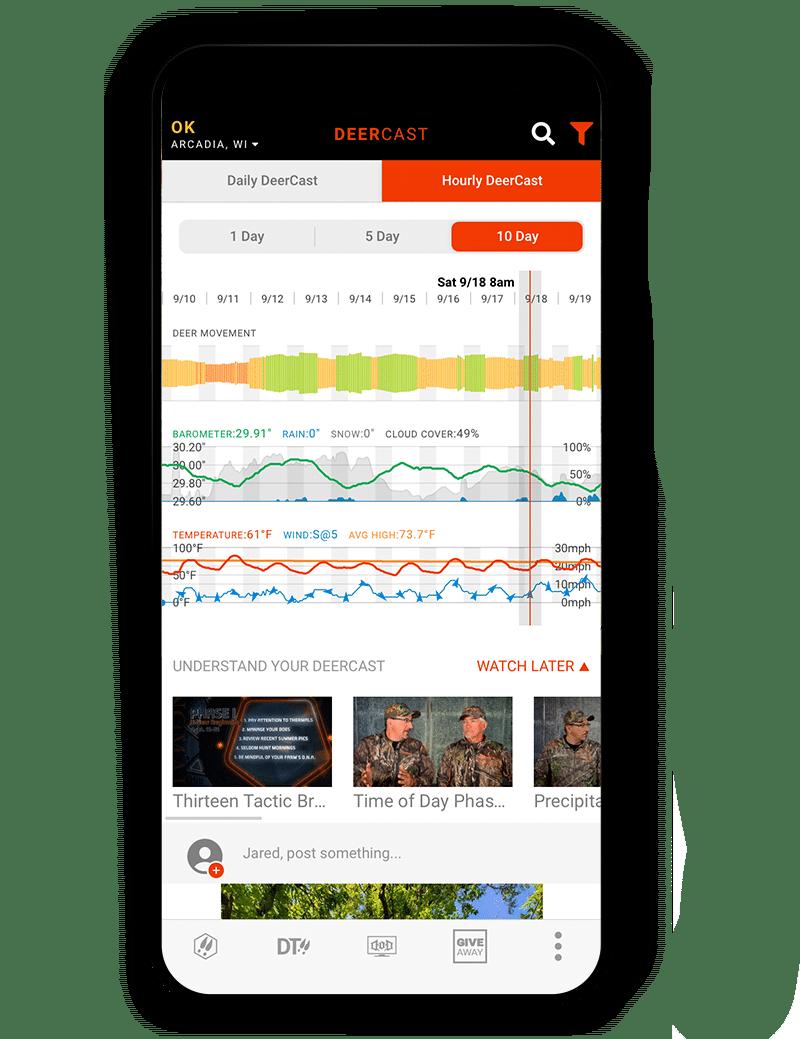 Deercast on the onX hunt Elite App