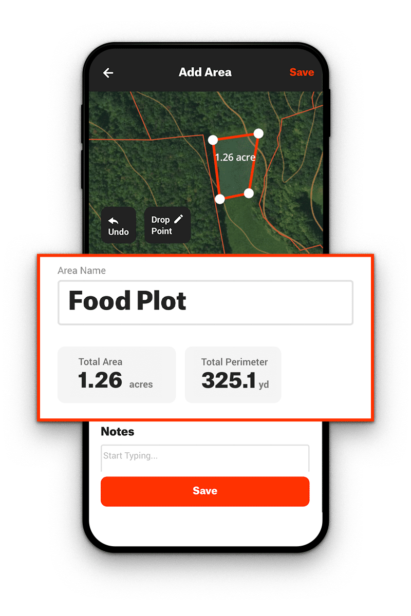 Area Shapes and Food Plots