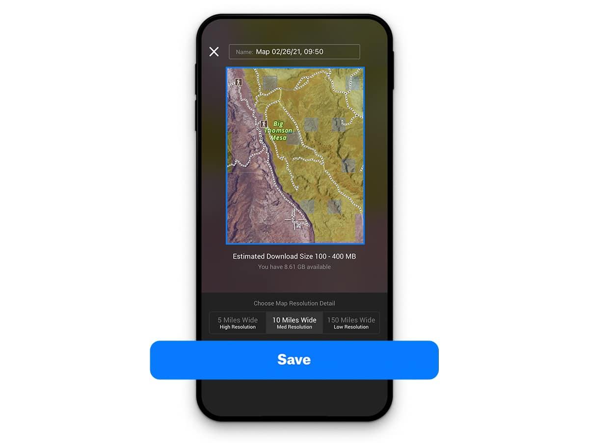 Offline Maps 101 Save Screenshot