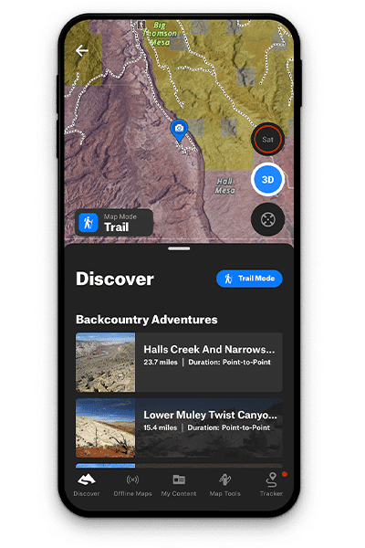 onX backcountry Discover Feature