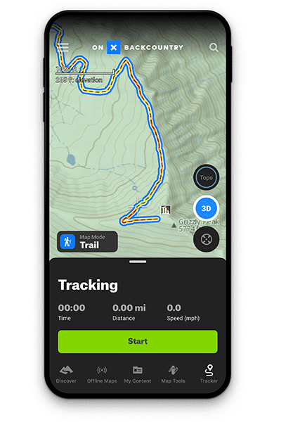 onX Backcountry Route Track
