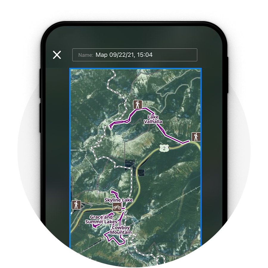 Offline GPS Snowshoeing App