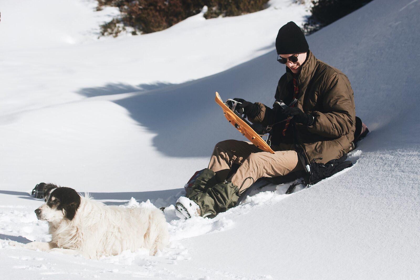 Snowshoeing Map app